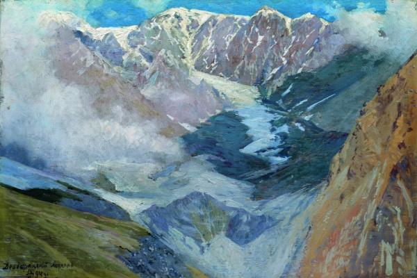Николай Александрович Ярошенко. Девдаракский ледник. 1894