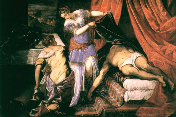 Jacopo Tintoretto. Judith and Holofernes, Tintoretto, 1550