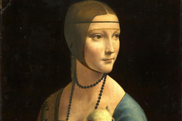 Leonardo da Vinci. Lady with an ermine. Cecilia (Cecilia) Gallerani