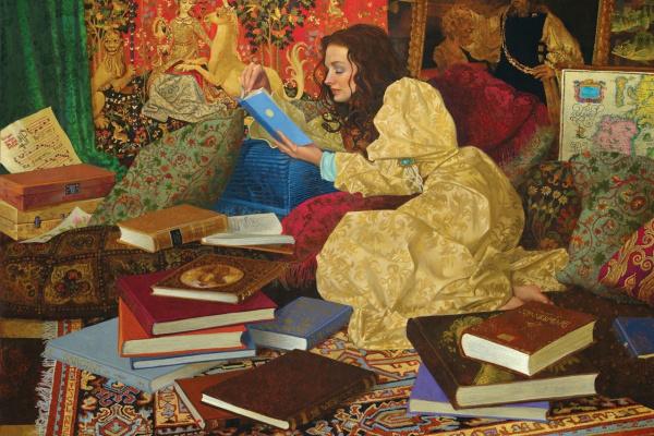 James Christensen. Her favorite room