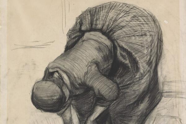 Винсент Ван Гог. Крестьянка, чистящая горшок