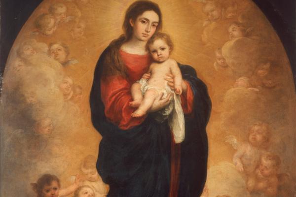 Бартоломе Эстебан Мурильо. Мадонна с младенцем во славе