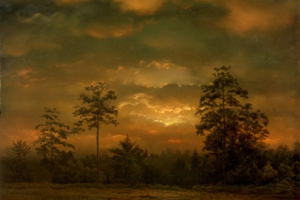 Vadim Vladimirovich Dementiev. Sunset. Meshchenskoye