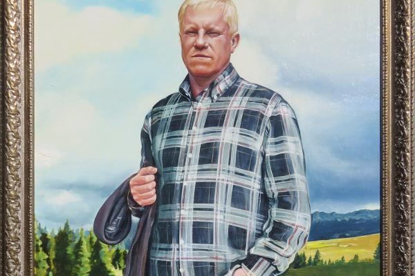 Владимир Сергеевич Жаркевич. Мужской портрет.