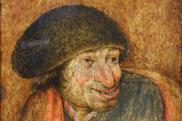 Peter Brueghel The Younger. Portrait of a peasant