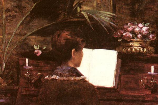 Луиза Аббема. На фортепиано