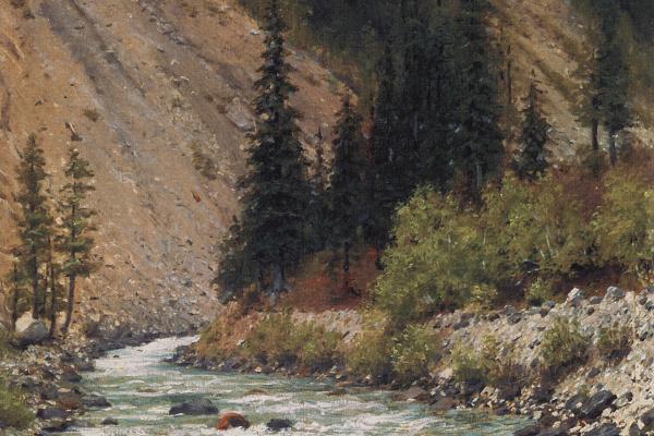 Василий Васильевич Верещагин. Горный ручей в Кашмире