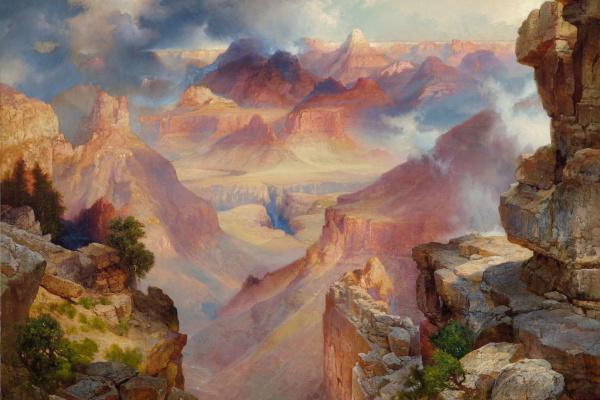 Томас Моран. Гранд-Каньон Аризоны на закате