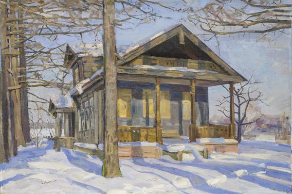 Евгений Александрович Казанцев. Март. Старый дом.