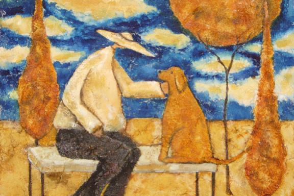 Деби Хаббс. Мужчина и собака