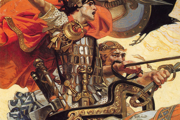 Joseph Christian Leyendecker. Cuchulain in battle