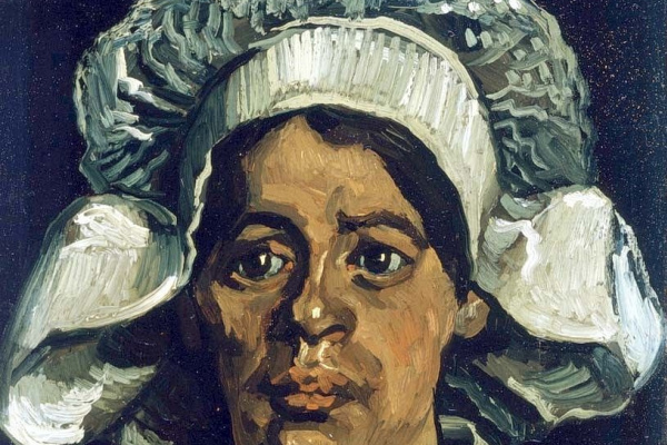 Vincent van Gogh. Head of a peasant woman with white cap