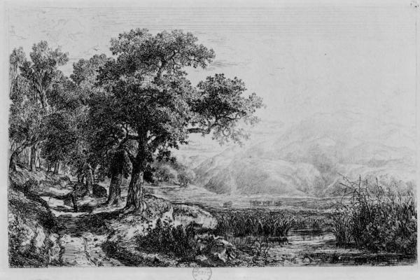 Charles-Francois Daubigny. View near Subiaco