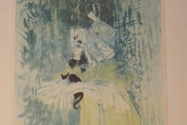 "Henri de Toulouse-Lautrec. ""May Belfort and Cat""."