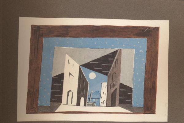 Pablo Picasso. Study design for the ballet Pulcinella