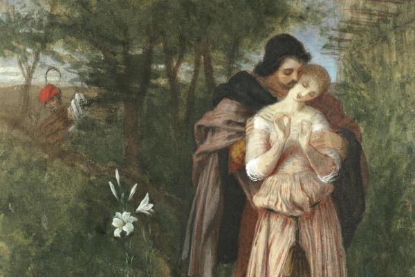 Frederick William Burton. Faust and Margarita