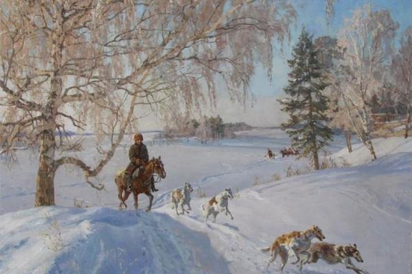 Диана Валерьевна Коробкина.. Зимняя охота.  2013