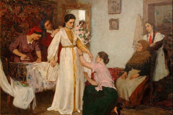 """Батыр Николаевич Калманов. """"Одевание невесты"""""""