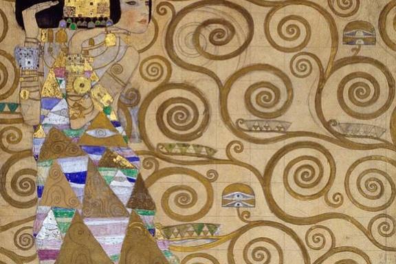 Густав Климт. Стоклет фриз. Ожидание (фрагмент)