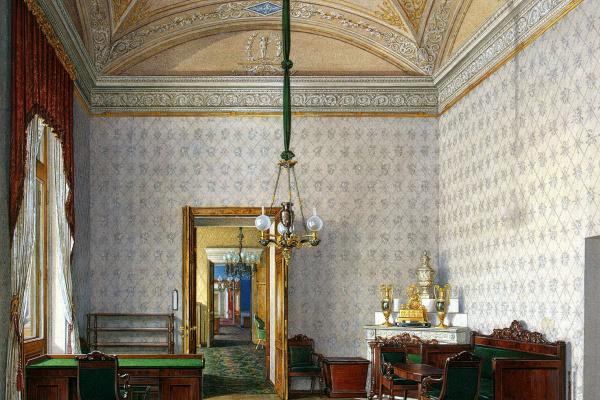 Эдуард Петрович Гау. Учебная комната во второй запасной половине дворца