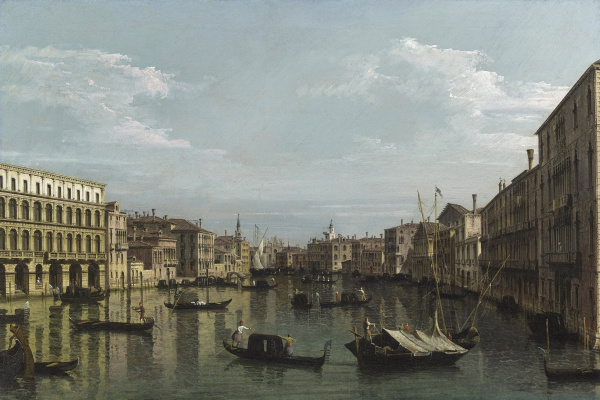 Bernardo Bellotto. Venice, view of Grand canal