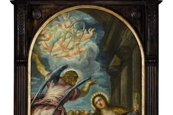 Jacopo Tintoretto. The angel predicts Saint Catherine of Alexandria and her martyrdom