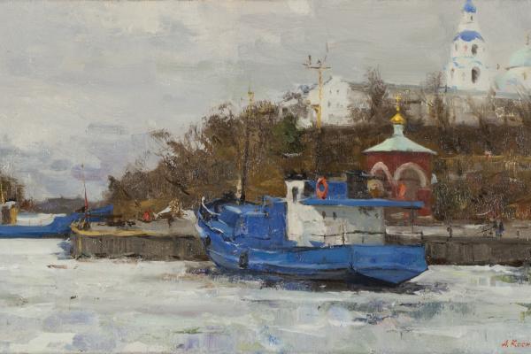 Александр Евгеньевич Косничев. Корабли в монастырской бухте