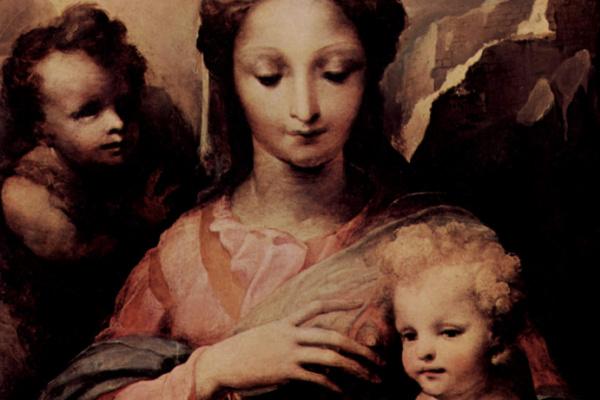Domenico Beccafumi. Madonna and John the Baptist.