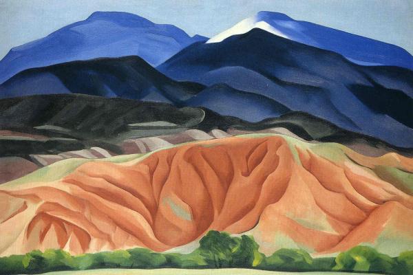 Georgia O'Keeffe. Black Mountain Table, New Mexico