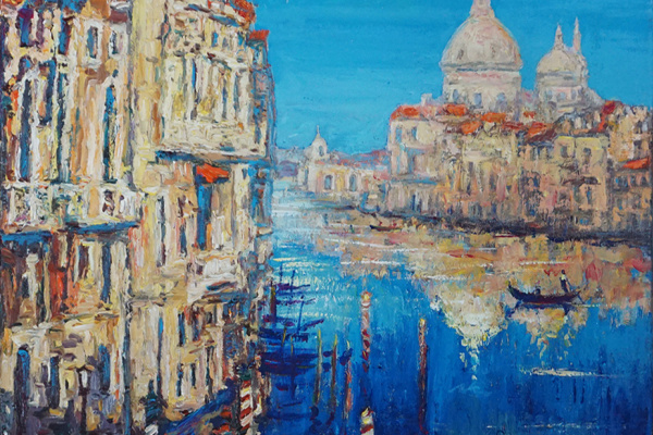 Valerij Ivanovich Sosna. Venice. Grand Canal