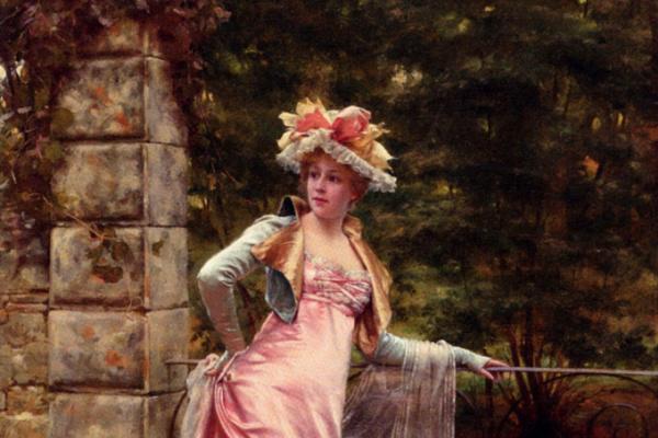 Фредерик Сулакруа. Девушка в розовом платье
