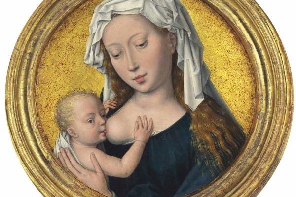 Hans Memling. Madonna Feeding the Baby