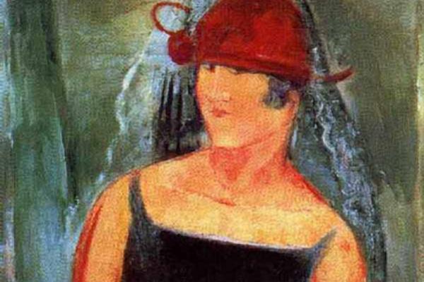 Вячеслав Пакулин. Женщина в красной шляпе
