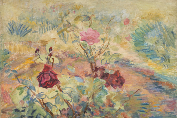 Pavel Varfolomeevich Kuznetsov. The roses in the garden