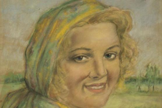 Александр Николаевич Самохвалов. Портрет девушки