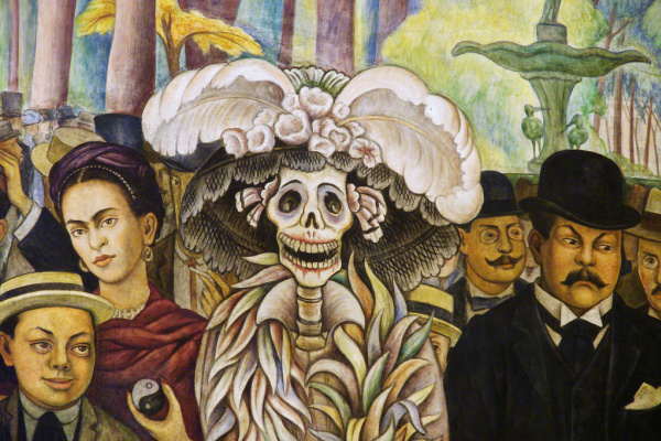 Diego Maria Rivera. The dream of Sunday afternoon in Alameda Park (detail)