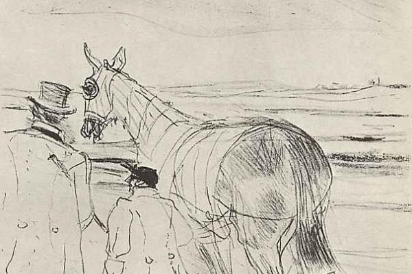 Henri de Toulouse-Lautrec. Trainer and jockey