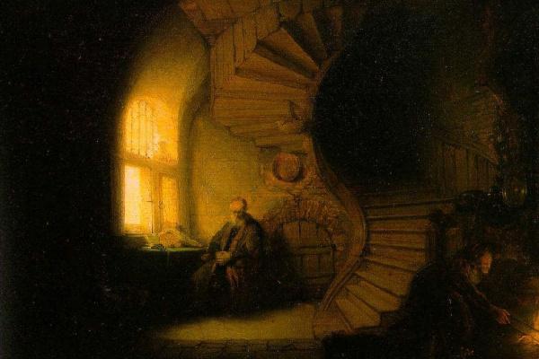 Rembrandt Harmenszoon van Rijn. Philosopher in meditation