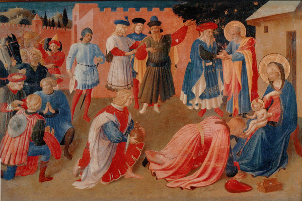 Fra Beato Angelico. Linayolskaya tabernacle. Fragment: Adoration of the Magi