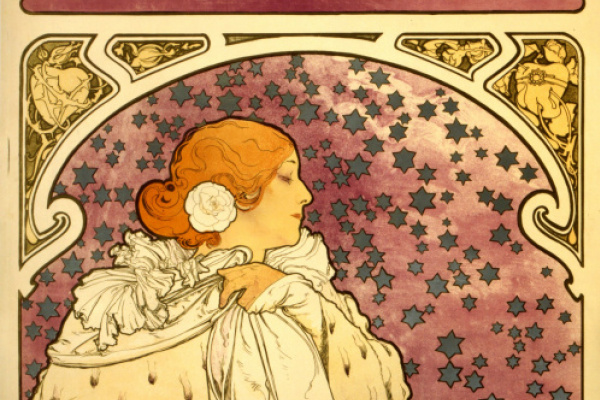 Альфонс Муха. Дама с камелиями. Рекламный плакат для Сары Бернар
