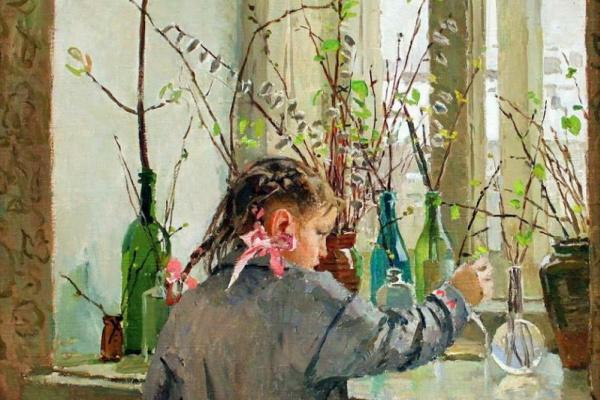 Татьяна Ниловна Яблонская. Весна на окне