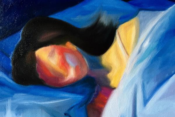 Anna Biei. Спящая девушка
