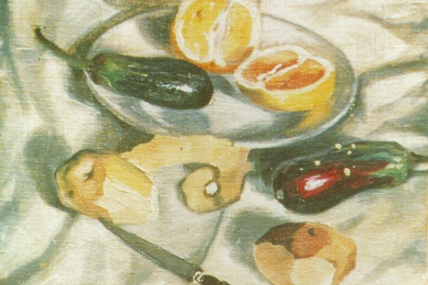 Salvador Dali. Still life with eggplant