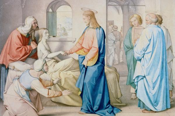Johann Friedrich Overbeck. Jesus resurrects the daughter of Jairus