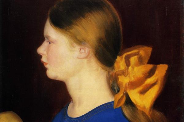 Борис Михайлович Кустодиев. Девочка с яблоками. Портрет Ирины Кустодиевой, дочки художника