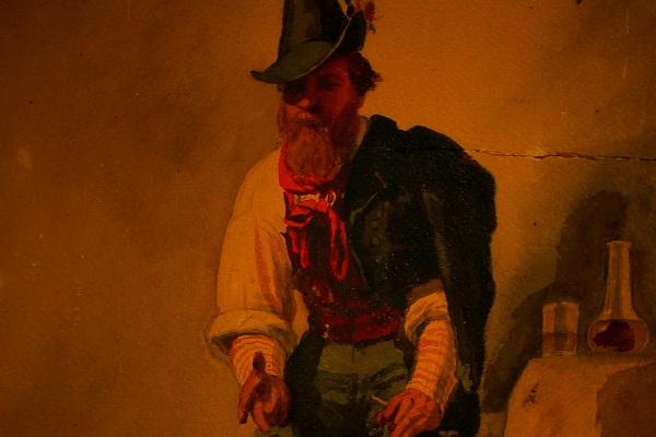 Александр Осипович Корицкий. С натуры, Рим, 1860, декабрь