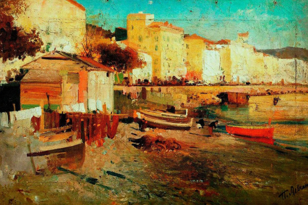 Peter Alekseevich Levchenko. The shore of the sea. Naples