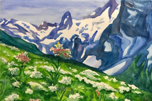 Larissa Lukaneva. Flowers in the mountains
