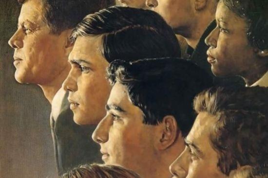 "Норман Роквелл. Корпус мира. Обложка журнала ""Look"" (14 июня 1966 год)"