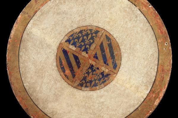 Жан Малуэль. Герб Филиппа Смелого на обратной стороне большого тондо «Оплакивание Христа»